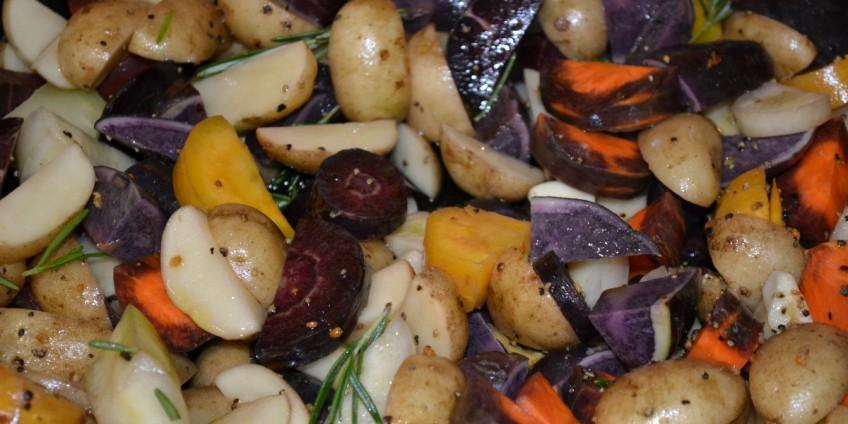 Geroosterde aardappelpartjes
